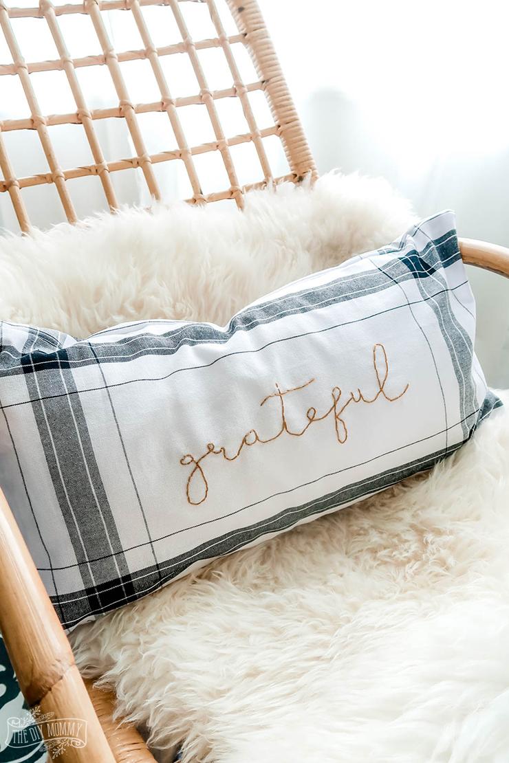 diy fall pillow from dollar tree towels