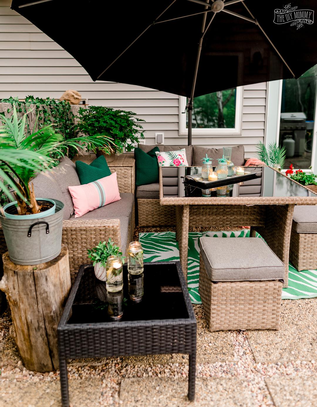 easy inexpensive patio decorating