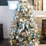 My Favorite Things Blue Silver Rose Gold Christmas Tree The Diy Mommy