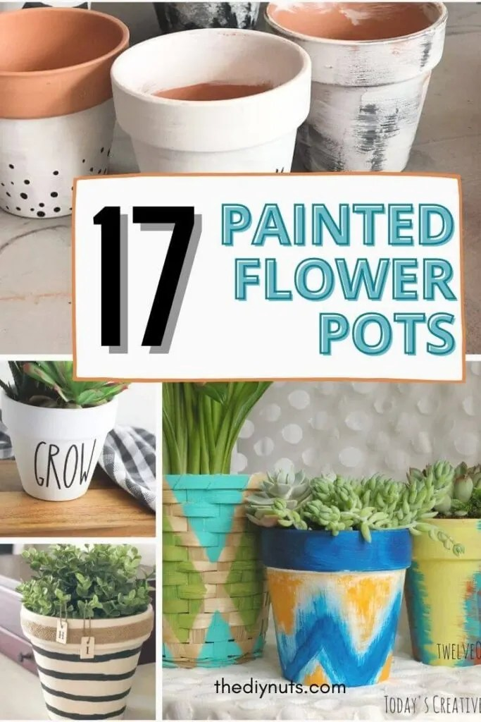 17 Fun Painted Flower Pot Designs No Green Thumb Needed The Diy Nuts