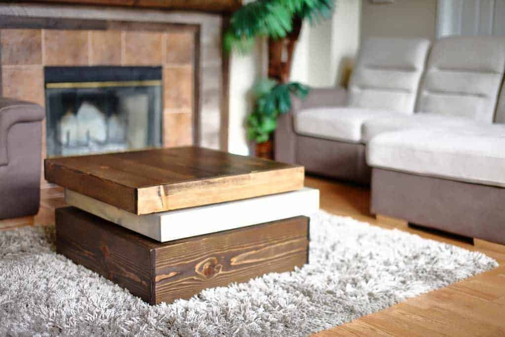 how to build a diy coffee table square