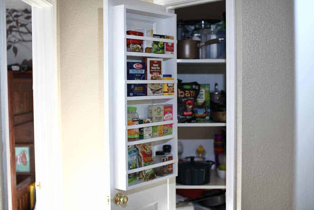 how to build a diy back of door shelf