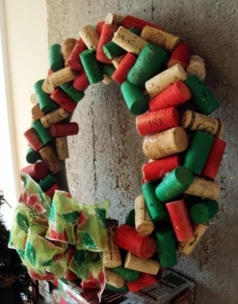 Festive Christmas Wine Cork Wreath DIY Playbook