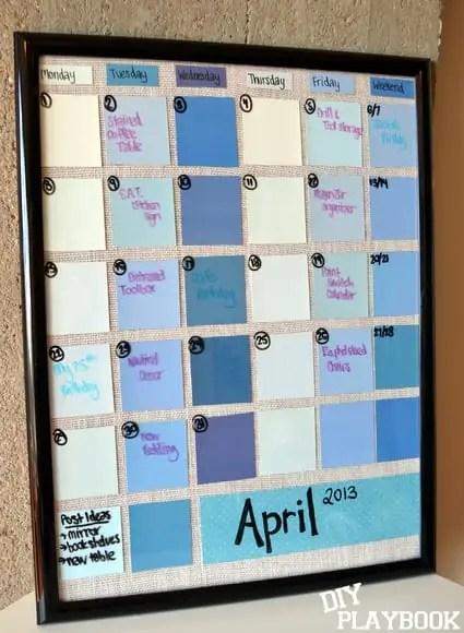Paint Swatch Calendar  DIY Playbook