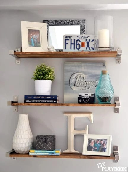 3 ikea shelves