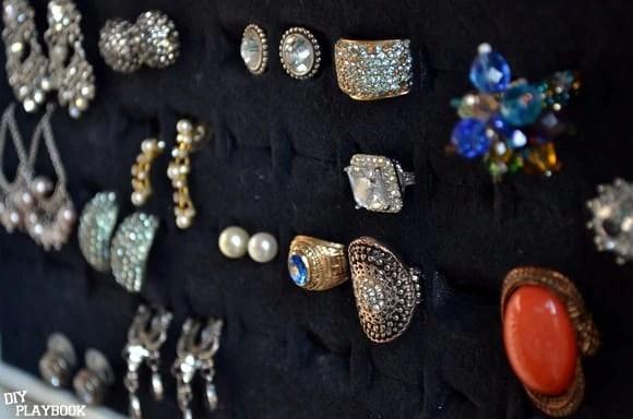 rings and earrings