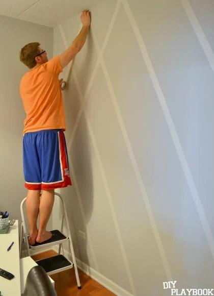Finn helping me make wall