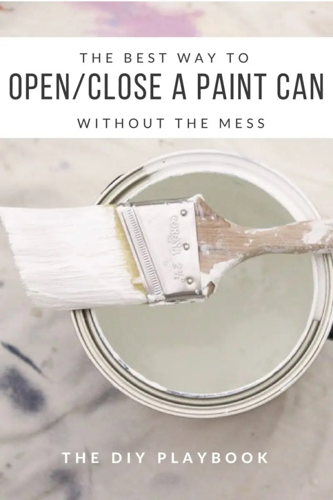 OpenClose a Paint Can