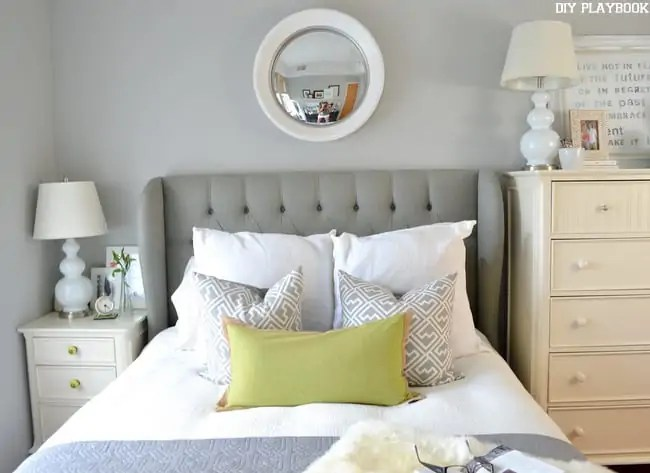 Gray-Headboard-White-Mirror