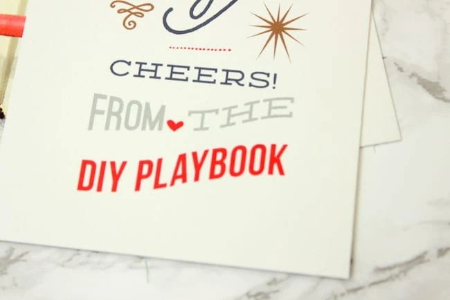 DIY Playbook Christmas Card