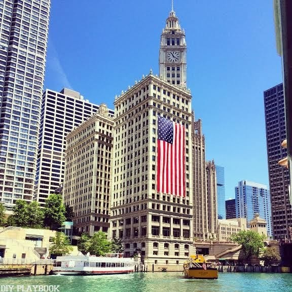 Chicago flag river summer
