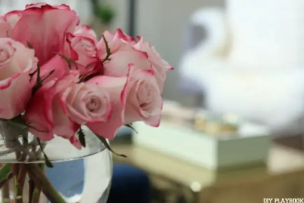 pink roses office table trunk