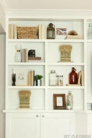 Fall Built Ins Bookshelf