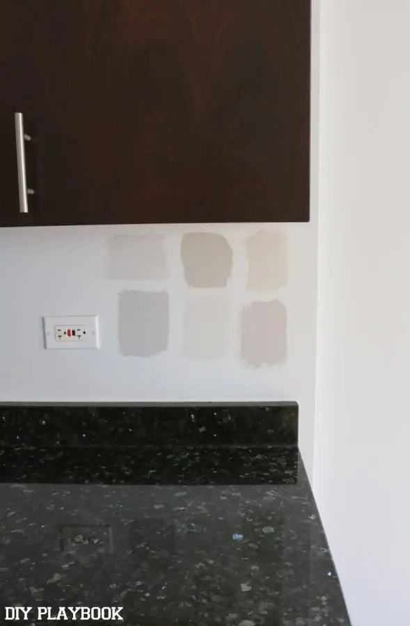 kitchen-paint-samples-on-wall