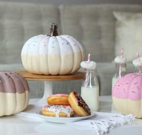 DIY Donut Pumpkin brunch