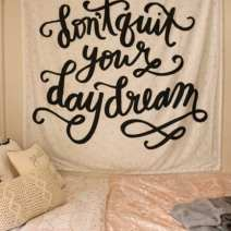 quote tapestry dormify