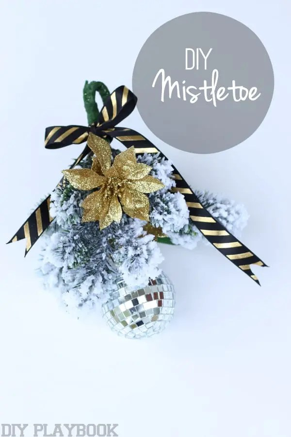 DIY Christmas Mistletoe