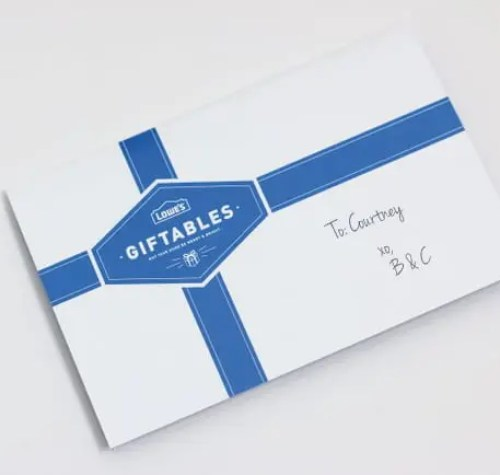 Lowe's Giftable Tag