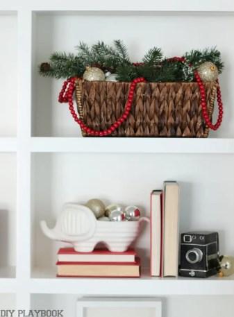 Christmas Shelves basket