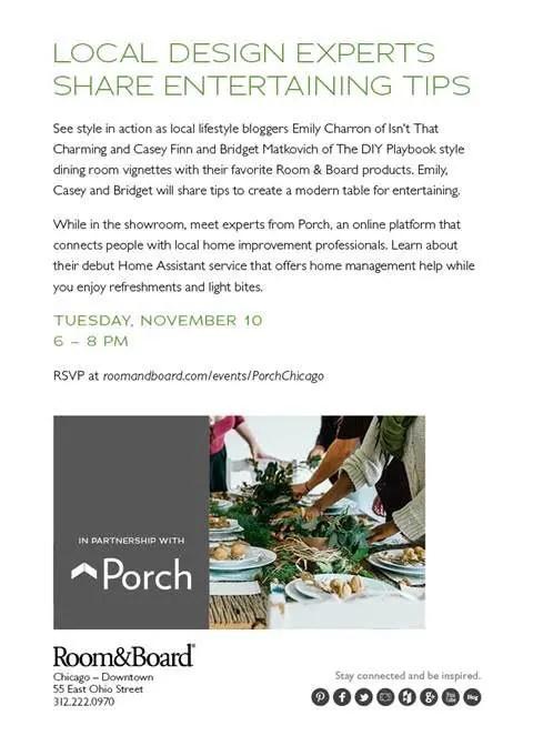 porch event