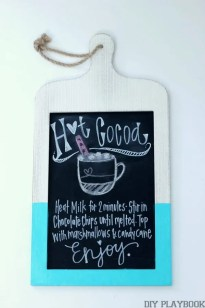 Hot Cocoa Recipe Chalkboard