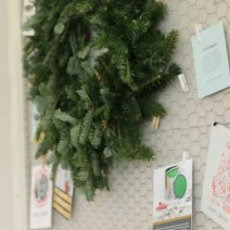 Christmas Card Display with wreath