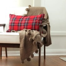 Christmas Chair plaid pillow blanket
