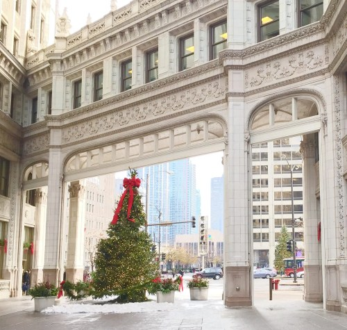 chicago christmas tree wrigley building