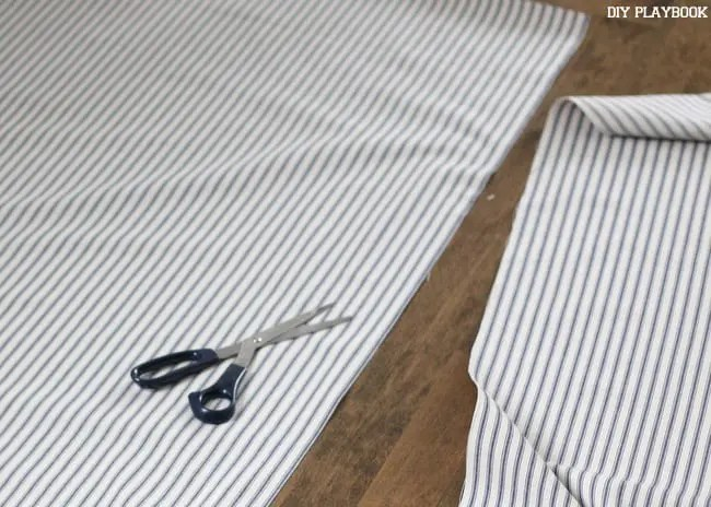 striped-fabric-cutting