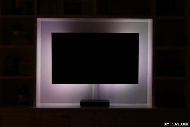 white-led-lights-television