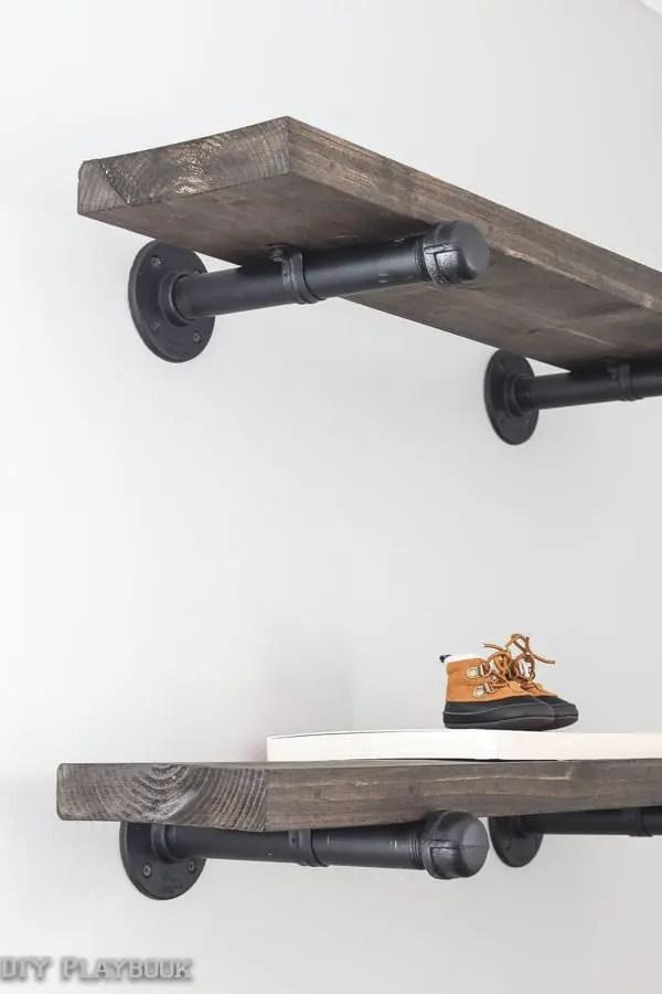 Diy Industrial Pipe Shelves Diy Playbook