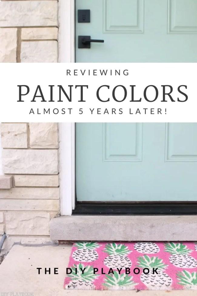 Reviewing Paint Colors