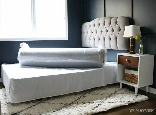 mattress-rolled-up-guest-room