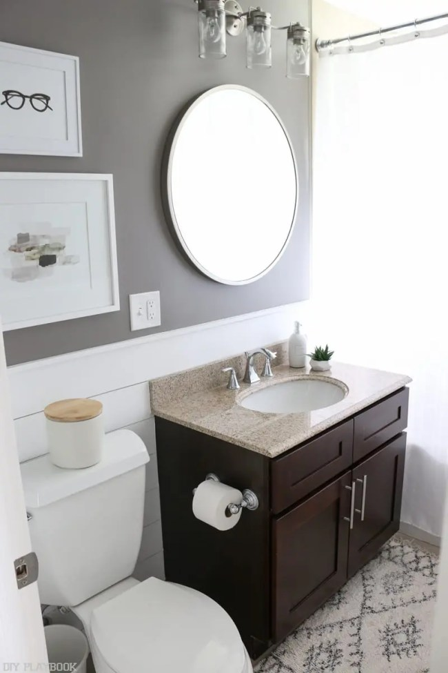 Diy shiplap bathroom reveal and full source list - Picture of bathroom ...