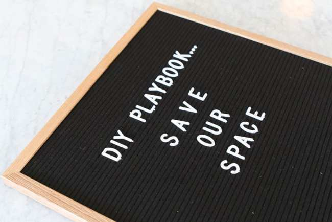 DIY Playbook Save our Space Letterfolk board