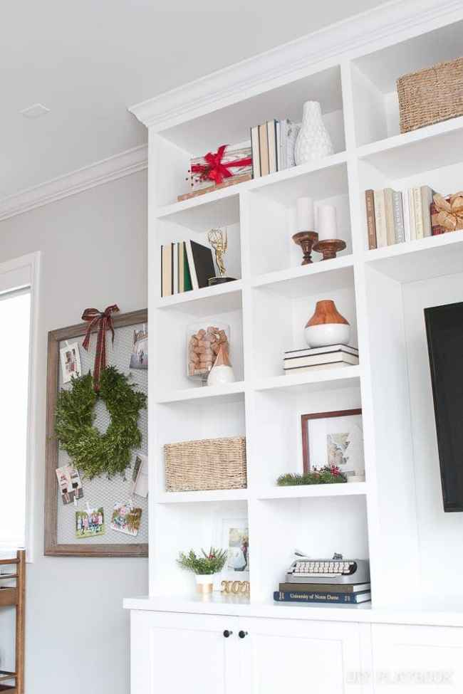 built-ins-christmas-decor-holiday-present