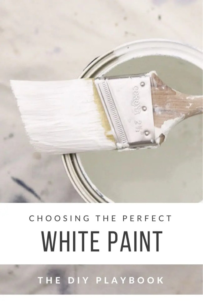 Choosing white paint