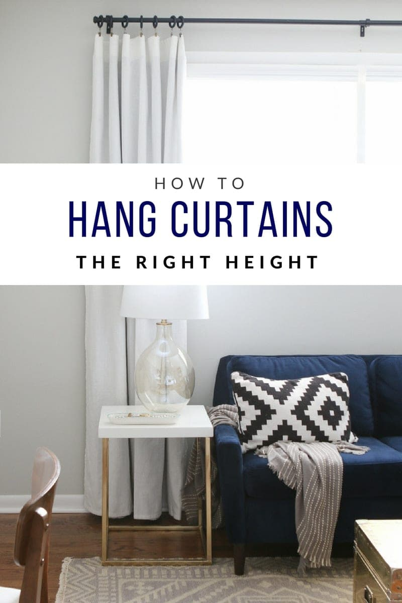 How to hang curtains high and wide to make your window