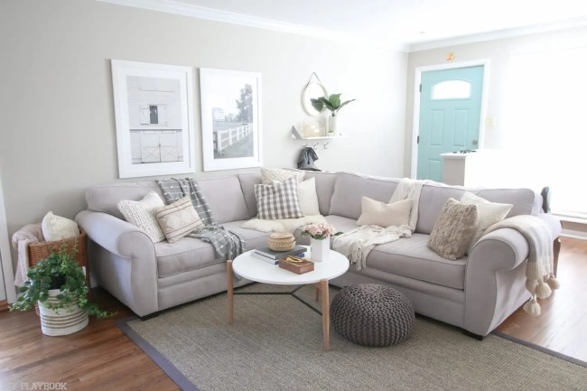 round_modern_coffee_table-couch_family_room_plant