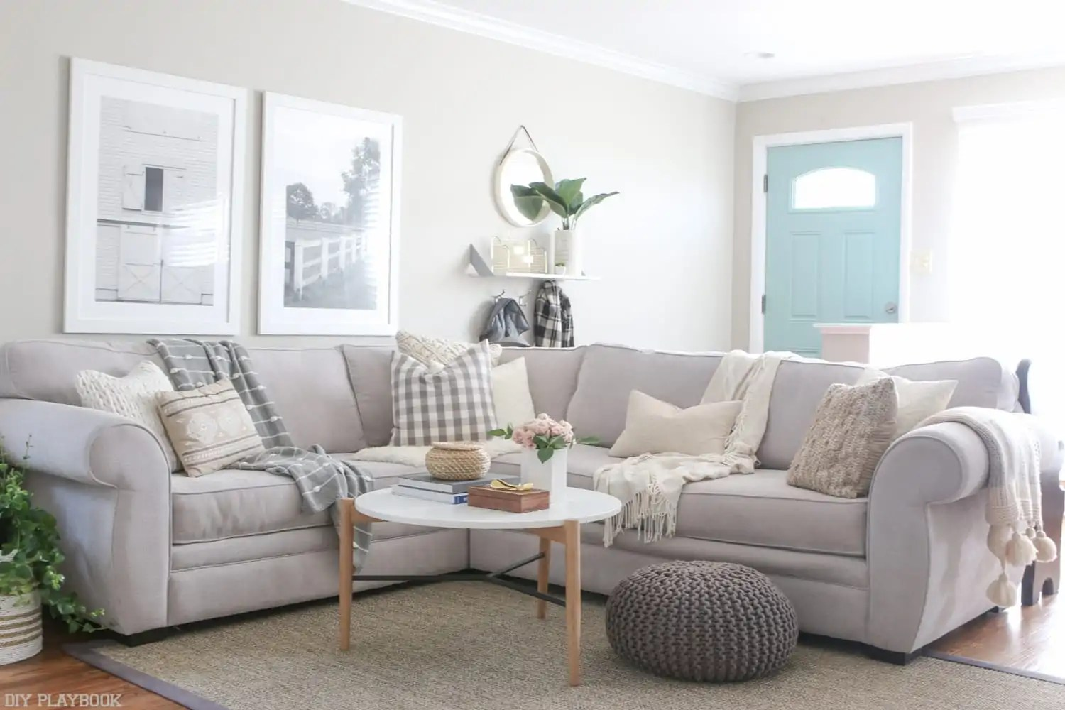 how to make mismatched living room furniture work arrange around tv avoid too much matching in design the diy playbook you can use same approach your family a extra cozy couch paired if do have
