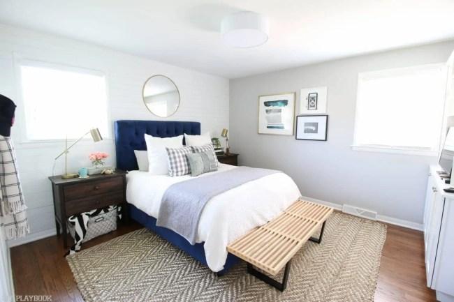 Bedroom-wide-bench-headboard