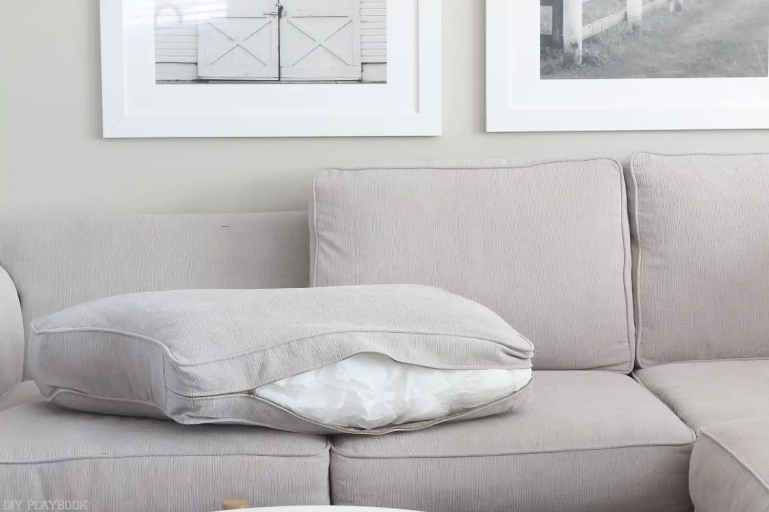 easy to clean sofa material lazy boy how couch cushions in four steps