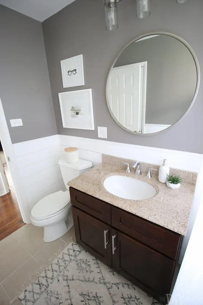 A Round Mirror In The Bathroom Diy Playbook