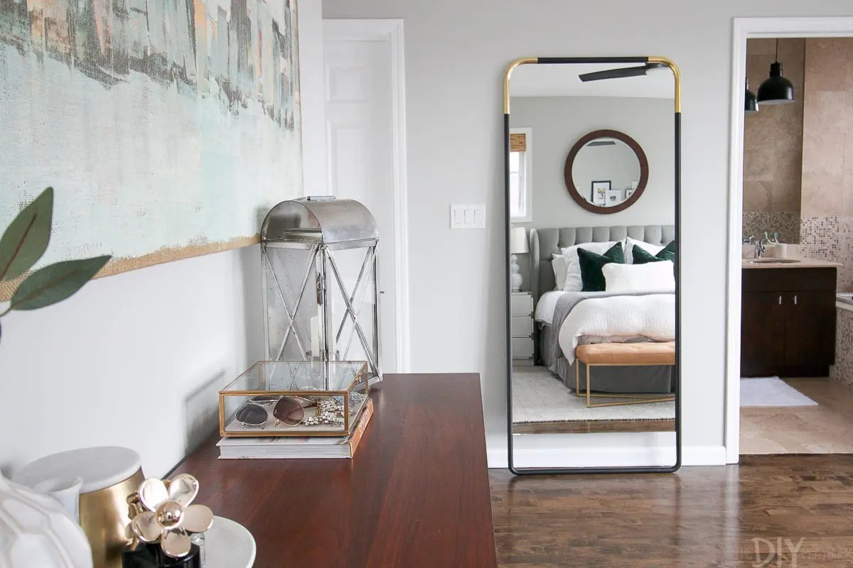How To Secure A Leaning Mirror To The Wall