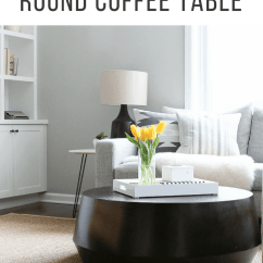 Living Room Round Table Beach Rooms Tips To Style A Coffee In Your The Diy Styling Can Be Tricky And There Are Many Things Keep