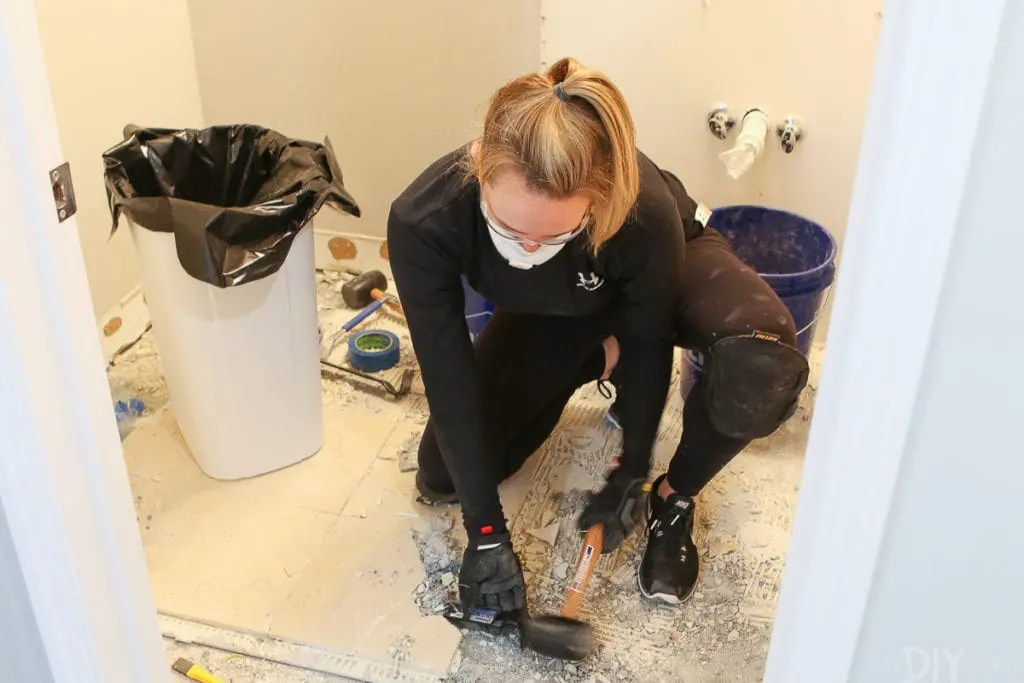 how to demo a bathroom in a weekend