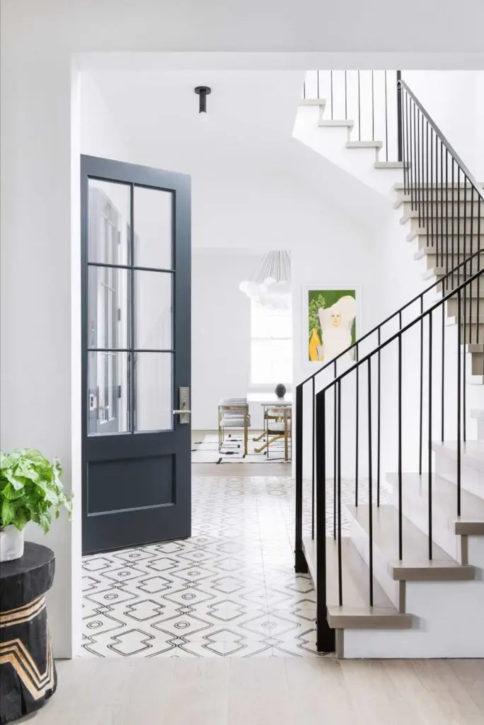 Metal Stair Railings Makeover Inspiration The Diy Playbook | Black Iron Stair Railing | Wrought Iron | Staircase | Beautiful Staircase | Outdoor Handrail Stair | Residential Stair