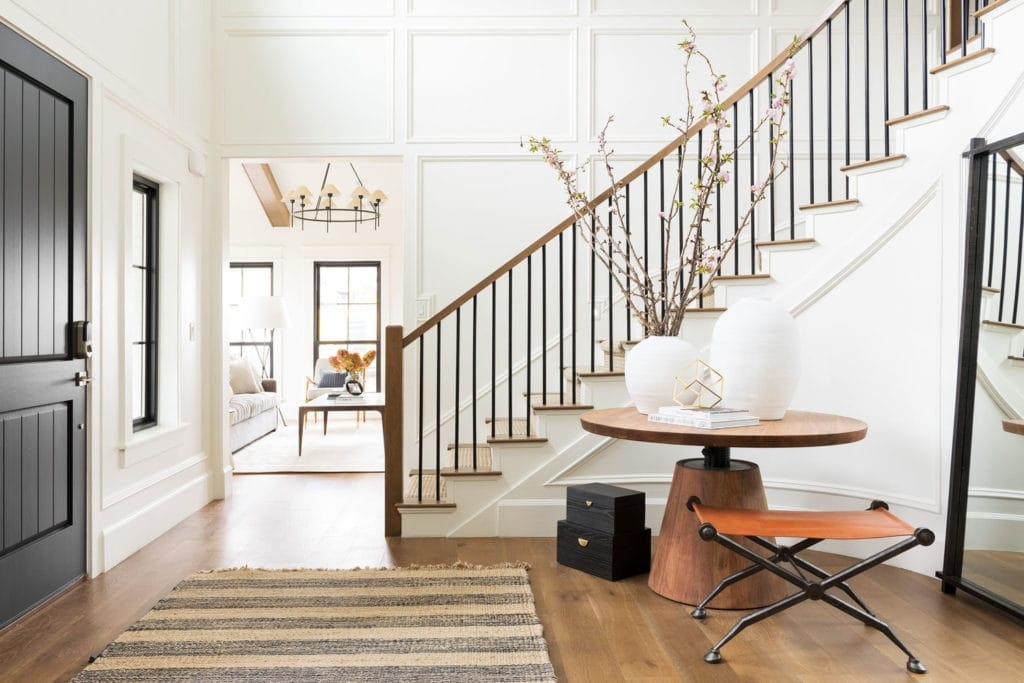 Metal Stair Railings Makeover Inspiration The Diy Playbook | Metal Railing Designs Stairs | Front Porch Stair Railing | Banister | Residential | Caramel | Rustic