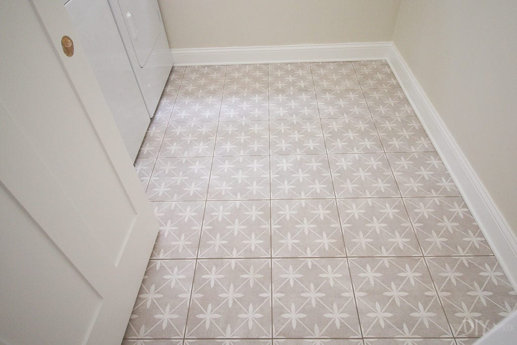 patterned laundry room floor tile the