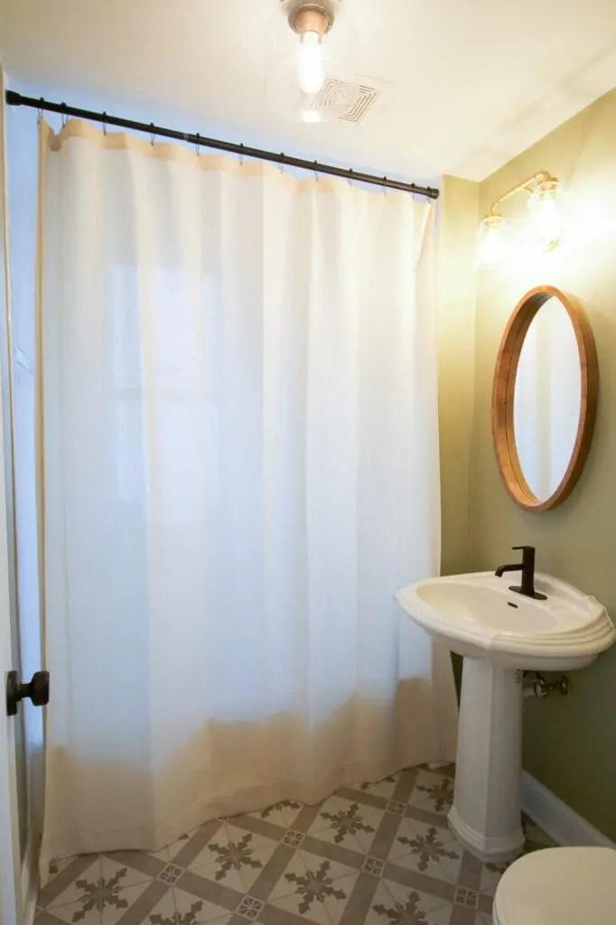 عمة مجهول وكالة سفر long bathroom shower curtains